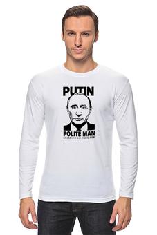 "Лонгслив ""Путин"" - путин, putin, polite man"