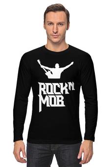 """Лонгслив """"Rocknmob (белое лого)"""" - rocknmob"""