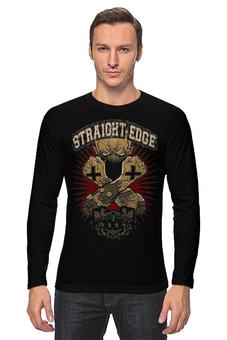 "Лонгслив ""Straight Edge"" - hardcore, sxe, straight edge"