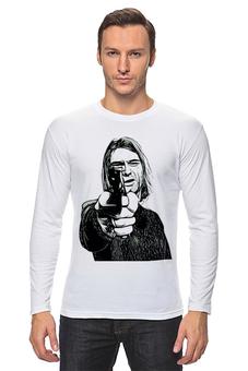 """Лонгслив """"Курт Кобейн"""" - музыка, оружие, знаменитость, курт кобейн, нирвана"""