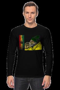 """Лонгслив """"Reggae+Weed"""" - арт, рисунок, прикольные, оригинально, парню, креативно"""