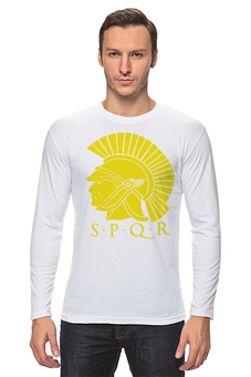 """Лонгслив """"SPQR: Сенат и народ Рима"""" - стильно, история, путь воина, spqw, римская империя"""