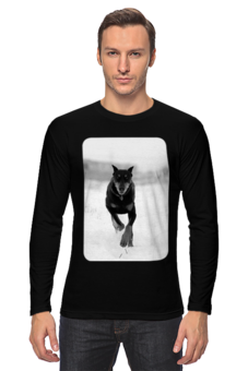 "Лонгслив ""Доберман"" - животные, собака, доберман"