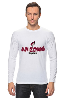 "Лонгслив ""Arizona Coyotes"" - хоккей, nhl, нхл, arizona coyotes, аризона койотис"