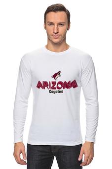"Лонгслив ""Arizona Coyotes"" - хоккей, nhl, нхл, arizona coyotes, аризона койотис"
