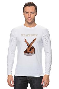 """Лонгслив """"Playboy Девушка"""" - плейбой, плэйбой, девушка, playboy"""