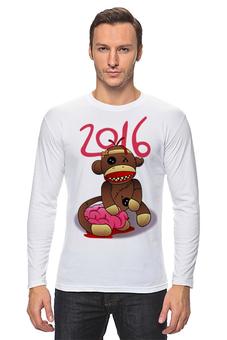 """Лонгслив """"Год Обезьяны"""" - новый год, зомби, обезьяна, monkey, 2016"""