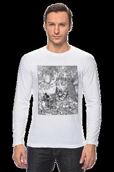 """Лонгслив """"Руслан и Людмила."""" - арт, авторские майки, популярные, прикольные, в подарок, оригинально, выделись из толпы"""