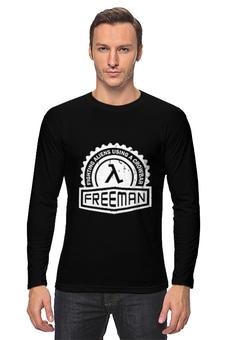 "Лонгслив ""FREEMAN"" - half-life, гордон фримен, gordon freeman, период полураспада"