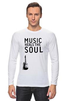 "Лонгслив ""Music heals the soul"" - музыка, dj, клуб"
