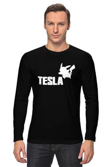 "Лонгслив ""Tesla"" - pokemon, покемон, пикачу, тесла, pikachu"