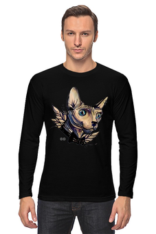 "Лонгслив ""Mr. Cox лонг"" - кот, бабочка, cat, кокс, сфинкс, sphynx, tm kiseleva"