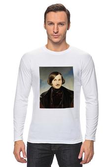 """Лонгслив """"Николай Гоголь (портрет работы Фёдора Моллера)"""" - картина, моллер, гоголь"""