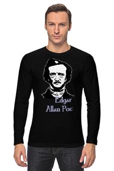 "Лонгслив ""Эдгар Аллан По (Edgar Allan Poe)"" - ретро, английский, edgar allan poe, эдгар аллан по, чёрнобелый"