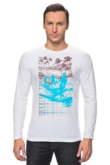 "Лонгслив ""HONOLULU Surfing The Pacific"" - море, хобби, доска, серфинг, виндсерфинг"