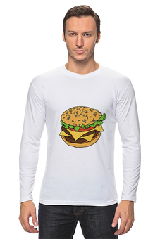 """Лонгслив """"Гамбургер"""" - гамбургер, сэндвич, fast food"""