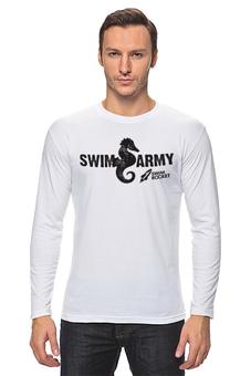 """Лонгслив """"Swim Army"""" - бег, соревнования, плавание, открытая вода, триатлон"""
