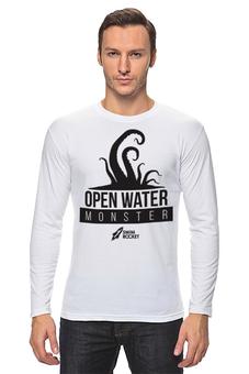 "Лонгслив ""Open Water Monster"" - осьминог, тигры, плавание, swimrocket, swimtigers"