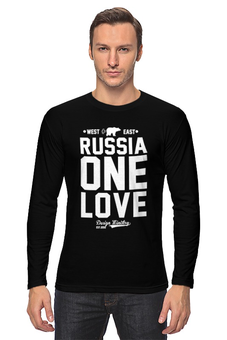 "Лонгслив ""RUSSIA ONE LOVE by DESIGN MINISTRY"" - любовь, медведь, страна, россия, designministry"
