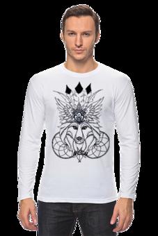 """Лонгслив """"Коронованный волк"""" - арт, оригинально"""