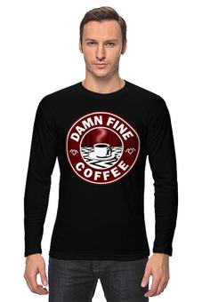 """Лонгслив """"Твин Пикс"""" - кофе, twin peaks, лора палмер, твин пикс, агент купер"""