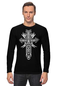 """Лонгслив """"Крест"""" - мужская, узоры, в подарок, оригинально, орнамент, кельтские, старинные, cross"""
