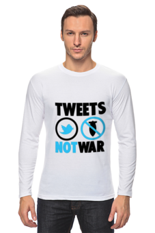 "Лонгслив ""Tweets Not War"""