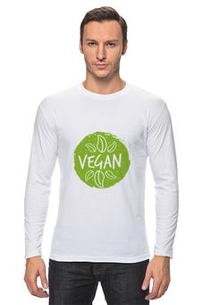 """Лонгслив """"Vegan"""" - природа, веган, vegan, go vegan, этика"""