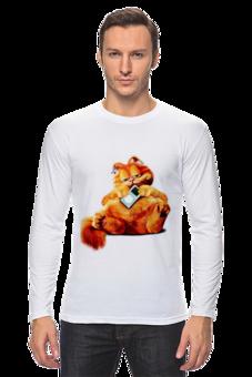 """Лонгслив """"Гарфилд"""" - авторские майки, прикольные, в подарок, оригинально, футболка мужская"""
