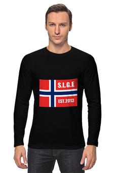 """Лонгслив """"путешествие"""" - норвежский флаг"""