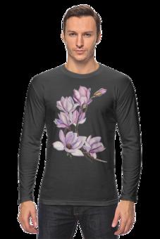 """Лонгслив """"магнолия"""" - цветы, акварель, магнолия"""