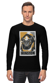 """Лонгслив """"Уинстон"""" - овервотч, уинстон, overwatch, winston"""