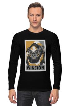 "Лонгслив ""Уинстон"" - overwatch, овервотч, winston, уинстон"