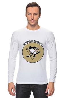 """Лонгслив """"Питтсбург Пингвинз """" - хоккей, hockey, nhl, нхл, питтсбург пингвинз"""