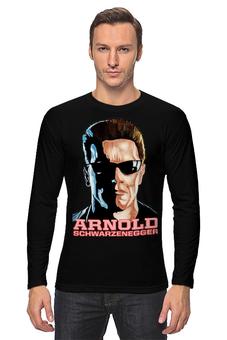 """Лонгслив """"Arnold Schwarzenegger"""" - кино, arnold schwarzenegger, терминатор, terminator, арнольд шварценеггер"""