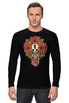 "Лонгслив ""Horror Art "" - skull, череп, арт, гроб, розы, roses, coffin"