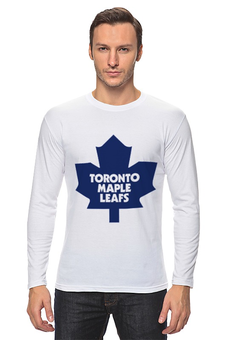 "Лонгслив ""торонто"" - hockey, кленовый лист, nhl, нхл, canada, торонто, торонто мейпл лифс, с клубом нхл, toronto, toronto maple leafs"