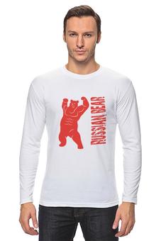 "Лонгслив ""Russian Bear"" - спорт, бодибилдинг, фитнес"