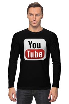 "Лонгслив ""YouTube"" - logo, знак, youtube, логотип, символ"