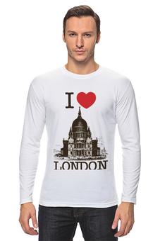 """Лонгслив """"Я люблю Лондон"""" - лондон, англия, i love london, британия, я люблю"""
