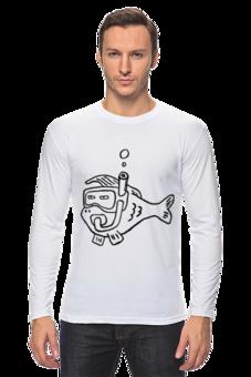 """Лонгслив """"Рыба моя (фуфайка)"""" - прикольно, арт, животные, море, рисунок, прикольные, рыба, животное, рыбка, океан"""