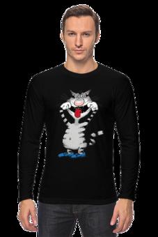 """Лонгслив """"Улыбнись!"""" - арт, футболка, прикольные, в подарок, оригинально, креативно"""