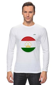 """Лонгслив """"Флаг Таджикистана"""" - арт, таджикистан, флаг, tajlife"""