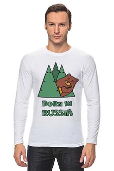 "Лонгслив ""Born in Russia (Рожден в России)"" - балалайка"