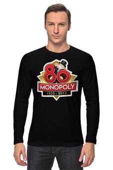 """Лонгслив """"Monopoly 80"""" - монополия, настольная игра"""