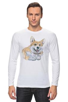 """Лонгслив """"Любимый пес"""" - животные, собака, корги, вельшкорги"""