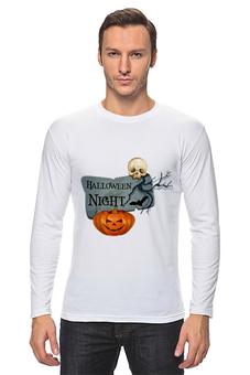 """Лонгслив """"Хэллоуин"""" - череп, хэллоуин, тыква"""