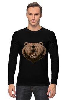 """Лонгслив """"Медведь"""" - медведь, животное"""