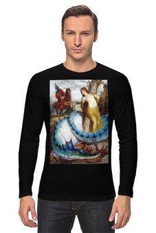 "Лонгслив ""Руджеро и Анжелика (Арнольд Бёклин)"" - дракон, картина, мифология, бёклин"