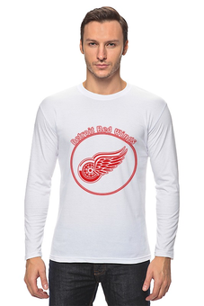 """Лонгслив """"Detroit Red Wings"""" - хоккей, hockey, nhl, нхл, детроит ред вингз"""